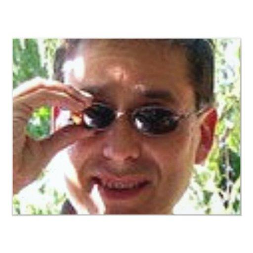 Larry Rosen con las gafas de sol Invitación 10,8 X 13,9 Cm
