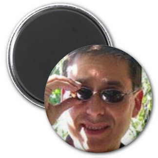 Larry Rosen with Sunglasses 2 Inch Round Magnet
