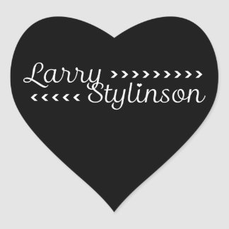 Larry Stylinson Customizable Color Black And White Heart Sticker