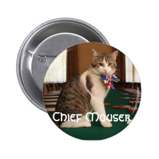 Larry the Downing Street Cat chief mouser badge Pinback Button
