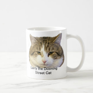 Larry the Downing Street Cat Face - Catching rats Classic White Coffee Mug
