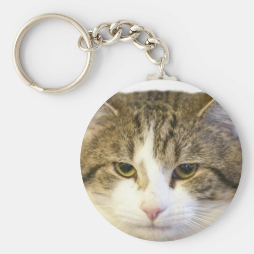 Larry the Downing Street Cat Face Keychains