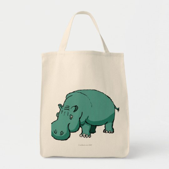 Larry the Hippo. Tote Bag
