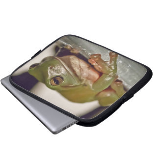 Larry the Laconic Tree Frog Laptop Computer Sleeves