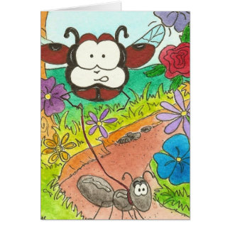 Larry the Ladybug and Anty Ants Bugs Stationery Note Card