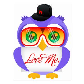 Larry the Owl (Love Me) Postcard