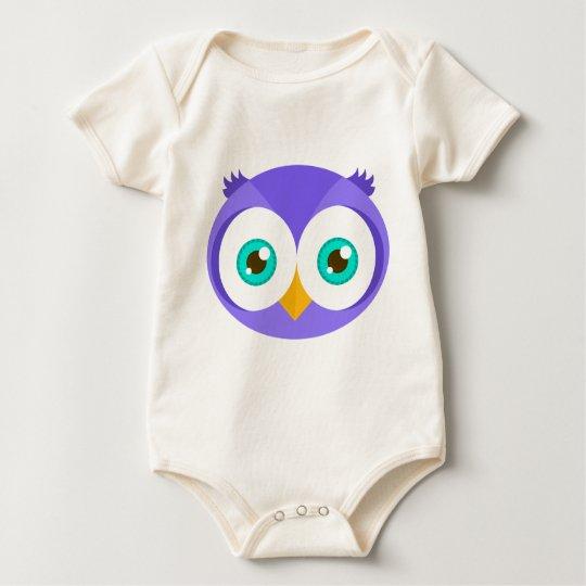 Larry the Purple Owl (Original) Baby Bodysuit