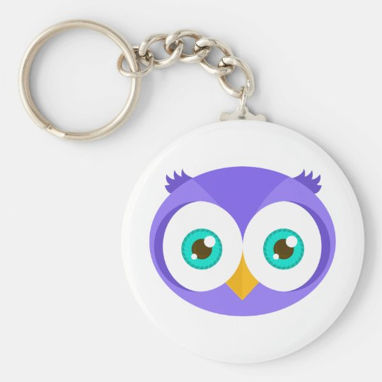 Larry the Purple Owl (Original) Keychain