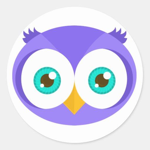 Larry the Purple Owl (Original) Classic Round Sticker