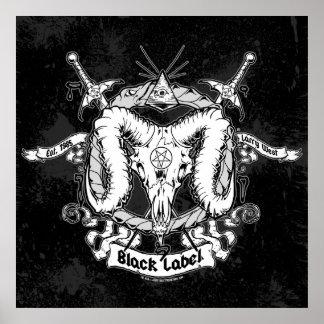 Larry West's Black Label Poster