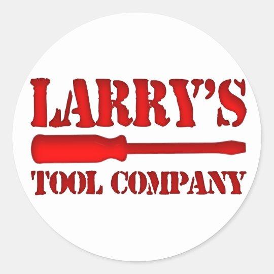 Larry's Tool Company Classic Round Sticker