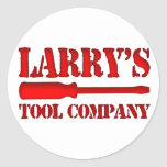 Larry's Tool Company Round Sticker