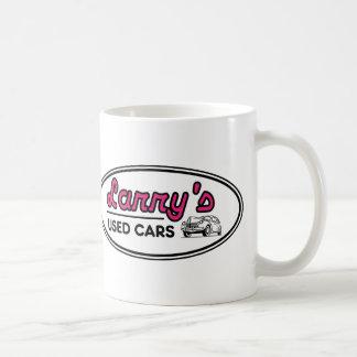 Larry's Used Cars Logo Classic White Coffee Mug