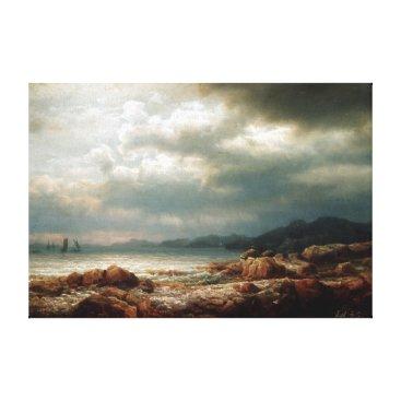Beach Themed Lars Hertervig Coastal Landscape Canvas Print