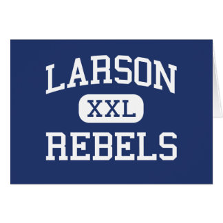 Larson rebela escuela secundaria Troy Michigan Tarjeta