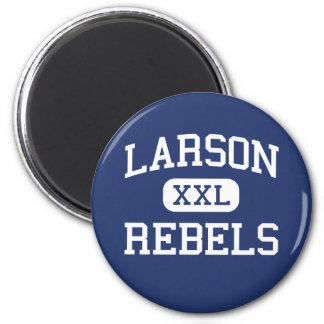 Larson Rebels Middle School Troy Michigan 2 Inch Round Magnet