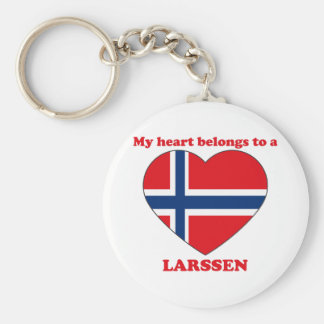 Larssen Basic Round Button Keychain