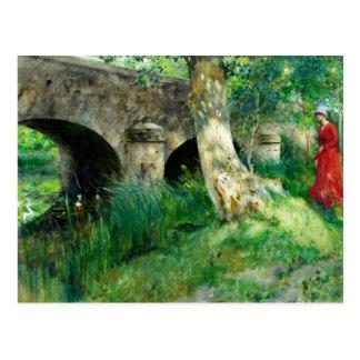 Larsson - Bridge in Grez Postcard