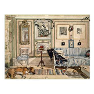 Larsson - Cosy Corner, 1894, artwork Postcard