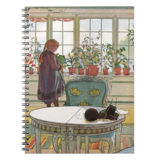 Larsson: Flores en el Windowsill Libretas Espirales