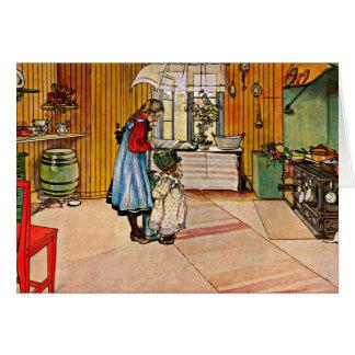 Larsson: La cocina, 1898 Tarjeta Pequeña