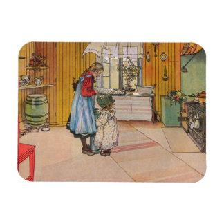 Larsson: La cocina Imán De Vinilo