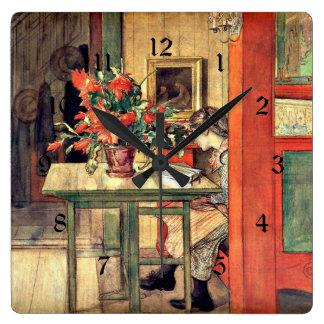 Larsson - Lisbeth Reading Square Wall Clock