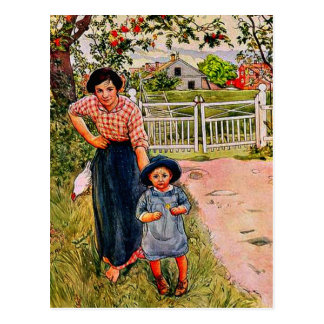 """Larsson - Say a Nice """"How Do You Do"""" to your Uncle Postcard"""