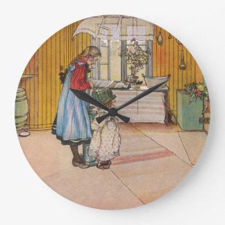 Larsson: The Kitchen, Art Large Clock
