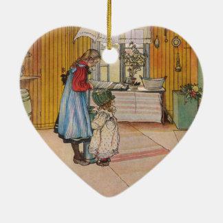 Larsson: The Kitchen, Art Ceramic Heart Decoration