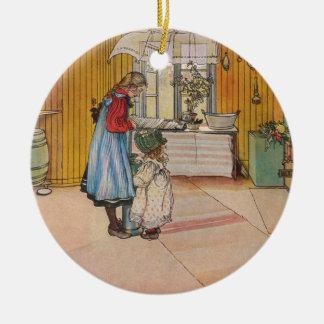 Larsson: The Kitchen, Art Round Ceramic Decoration