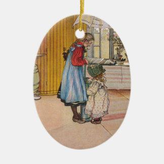 Larsson: The Kitchen, Art Ceramic Oval Decoration