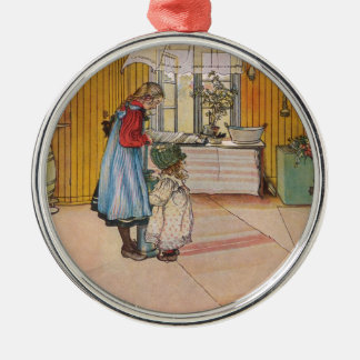 Larsson: The Kitchen, Art Silver-Colored Round Decoration