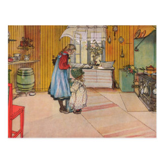 Larsson: The Kitchen, Art Postcard