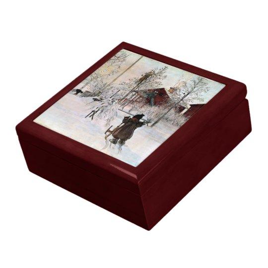 Larsson: The Yard and Wash-House artwork Keepsake Box