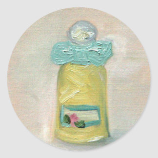 """L'art du Parfum"" Classic Round Sticker"