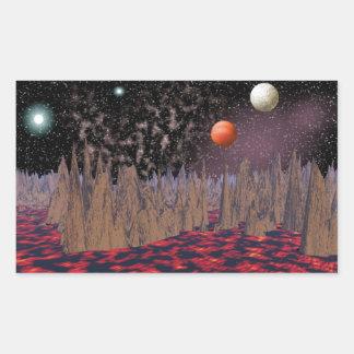 Larva Planet Space Scene Stickers