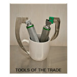 LARYNGOSCOPES AND COFFEE MUG - TOOLS OF THE TRADE POSTERS