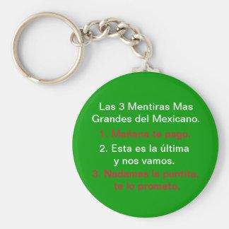 Las3 Mentiras Mas Grandes/ Frecuentes Del Mexicano Basic Round Button Keychain
