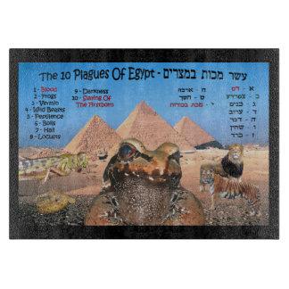 Las 10 plagas de Egipto - hebreo y inglés Tabla De Cortar