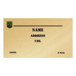 las 10mas fuerzas especiales agrupan la tarjeta de tarjeta de visita