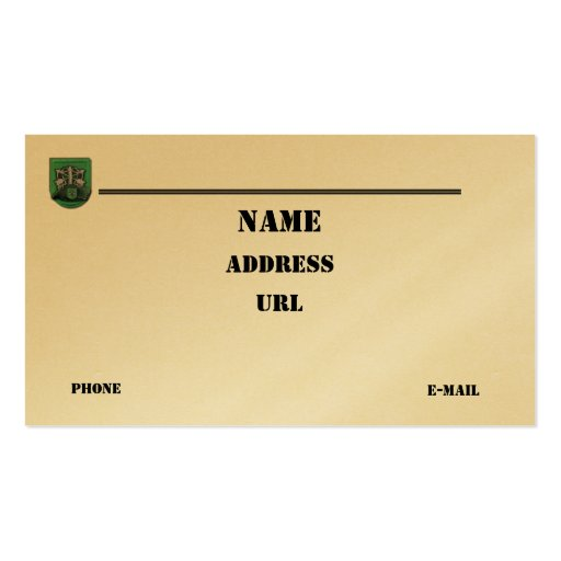 las 10mas fuerzas especiales agrupan la tarjeta de tarjetas de visita