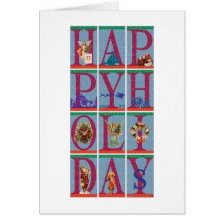 Las 12 letras del navidad tarjetas