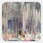 Las 12 princesas de baile en el bosque de Nielsen Pegatina Cuadrada