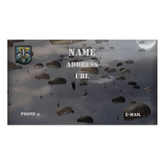 las 12mas fuerzas especiales agrupan la tarjeta de plantilla de tarjeta de negocio