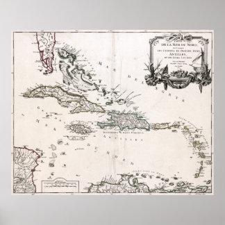 Las 1750 Antillas Póster