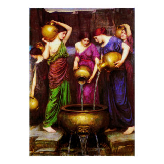 Las 1904) lonas de bella arte del ~ de Danaïdes ( Poster