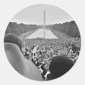 Las 1963 derechas civiles marzo en la C.C. de Pegatina Redonda