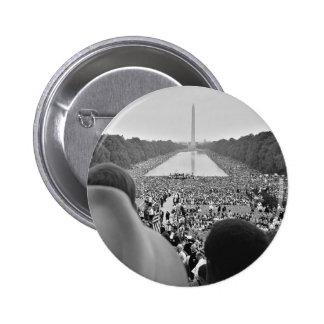 Las 1963 derechas civiles marzo en la C.C. de Wash Pin Redondo 5 Cm