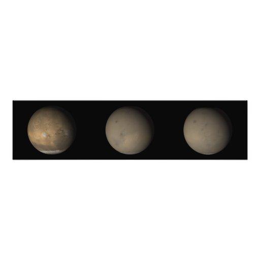 Las 2001 grandes tormentas del polvo en Marte 2 Impresiones Fotográficas